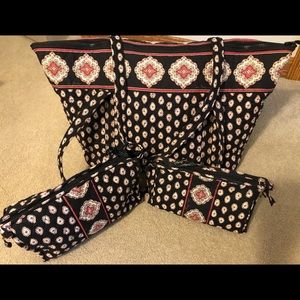 Vera Bradley Miller Bag with cosmetic bags